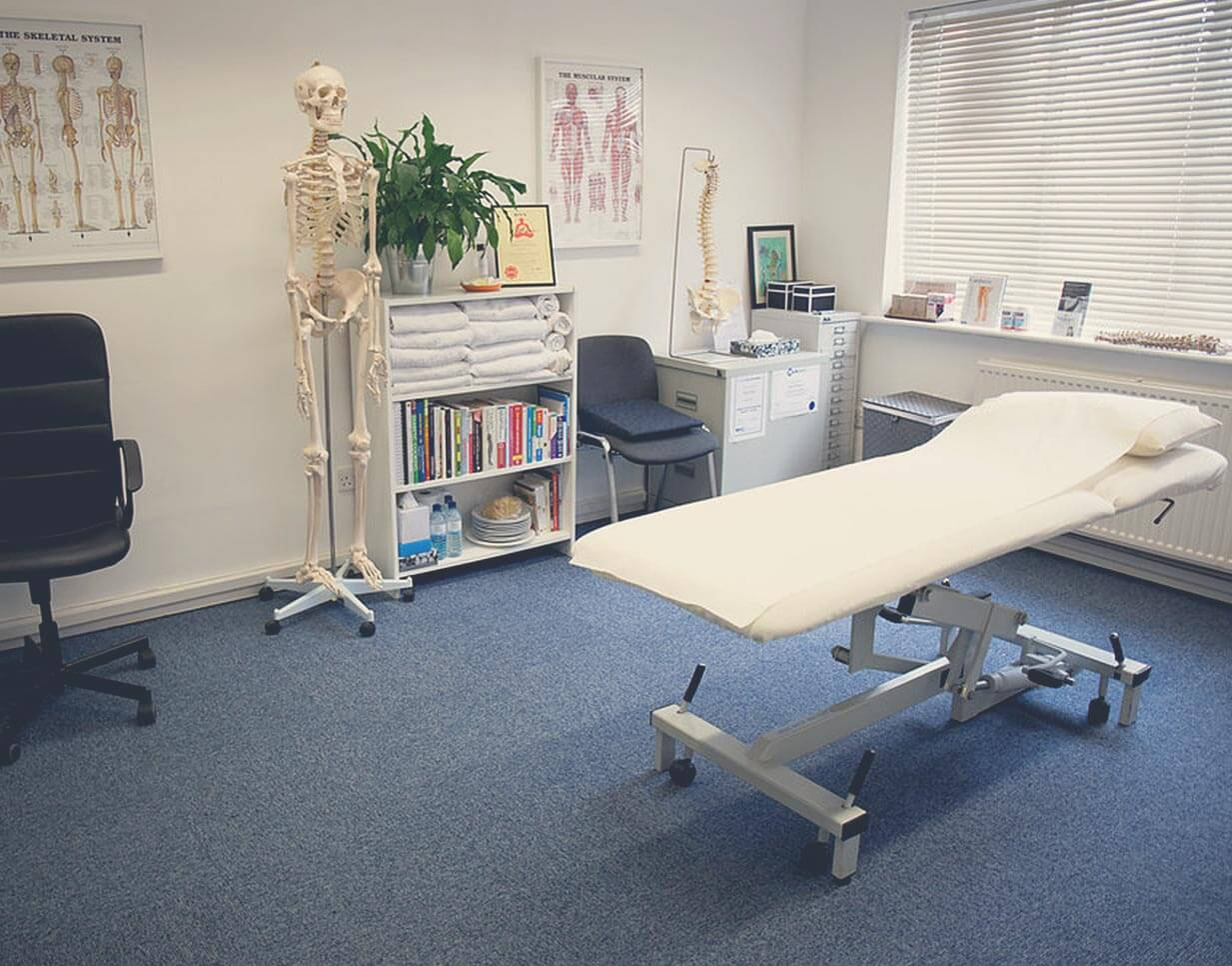 Consulting room at Julia Kinsey Osteopathy Wilmslow